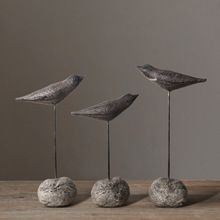 3 PCSSET Stone Seabirds Retro Ornaments Sea Bird Decor American Country Home Accessories Living Room Ornaments Resin Crafts * Click the VISIT button to find out more on  AliExpress.com #HomeDecor