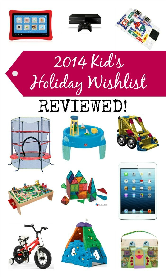 2014 Kids Holiday Wishlist Reviewed - List of perfect holidays gifts for kids, with full reviews!