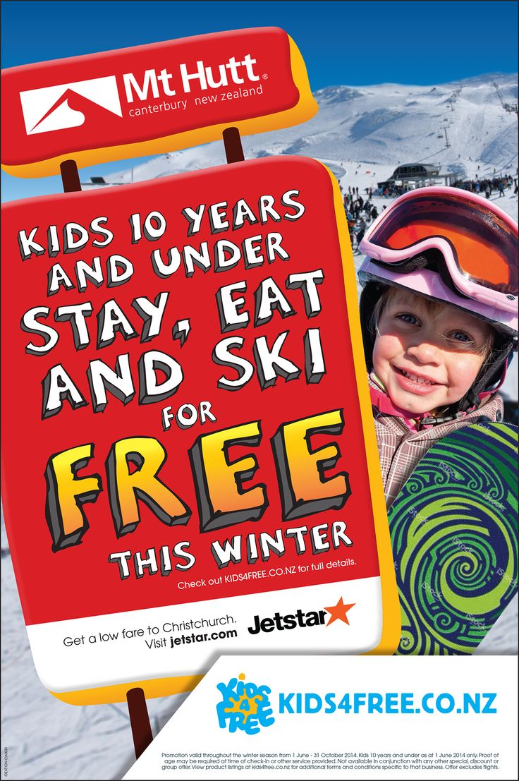 Kids4free campaign in conjunction with Jetstar print advert