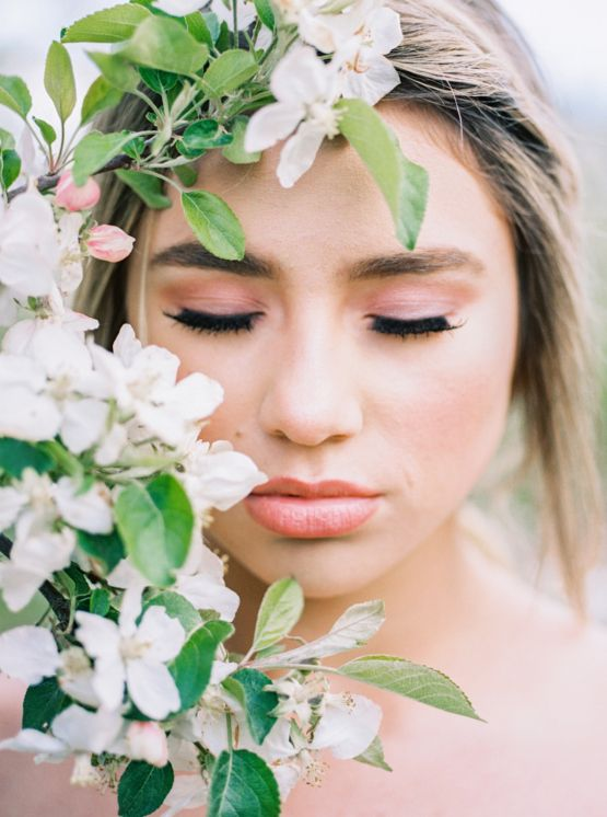 Bright and Colorful Apple Blossom Orchard Wedding Inspiration | Shanell Photography & Mitten Weddings and Events 68