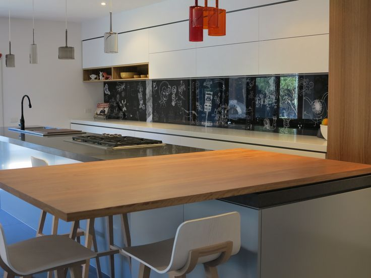 A creatively embellished Cantilever K2 kitchen. The feedback from our client is 'It is extremely functional with a super clean contemporary style coupled with creative flair'   Made in Brunswick, Melbourne   www.cantileverinteriors.com