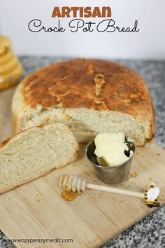 Crusty exterior, soft chewy interior, perfect for soup or artisan sandwiches, and literally takes only 7 minutes to throw together. 7 Minute Artisan Crock Pot Bread