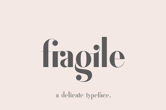 Fragile - A Delicate Typeface by Josh O. on @creativemarket