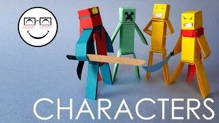 origami minecraft - YouTube