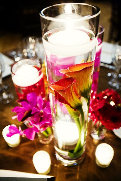 Ideas about submerged flower centerpieces on