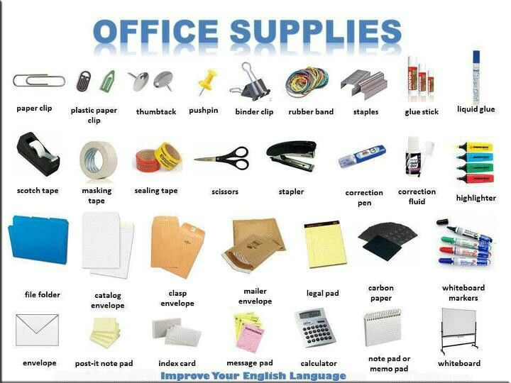 Office Supplies English Vocabulary