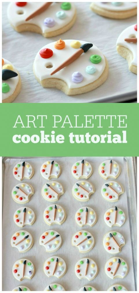 Artist Palette Cookie Tutorial
