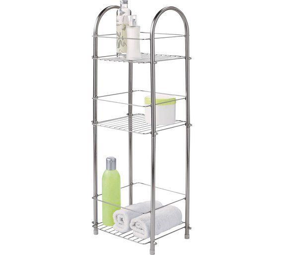 Buy HOME 3 Tier Organiser - Chrome at Argos.co.uk, visit Argos.co.uk to shop online for Bathroom shelves and storage units, Bathroom furniture, Home and garden