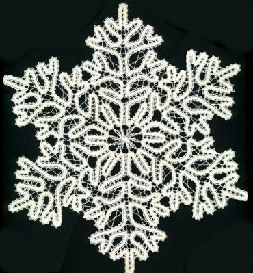 Bruges lace snowflake