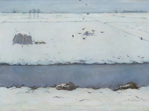 Jan Mankes (1989-1920) -Winter landscape 1913 - Museum Belvedere, Fryslan, The Netherlands.