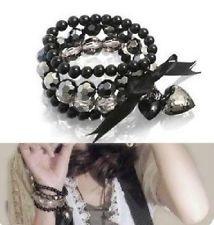 Women Elegant Fashion Three Layer Pearl Multilayer Elasticity Lady Bracelet D16