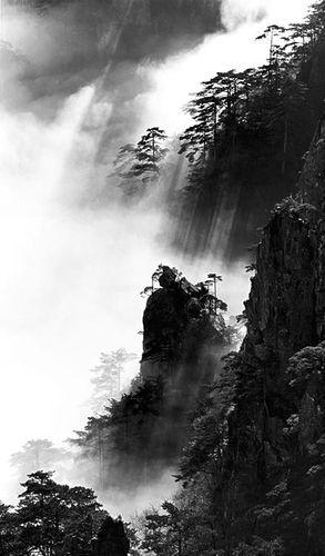 Photographie de Wang Wusheng - Montagnes Huang Shan, Chine