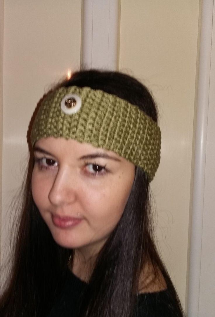 CROCHET HEADBAND OLIVE ear warmers women's fashion accessories gift for her by MarikaArt on Etsy