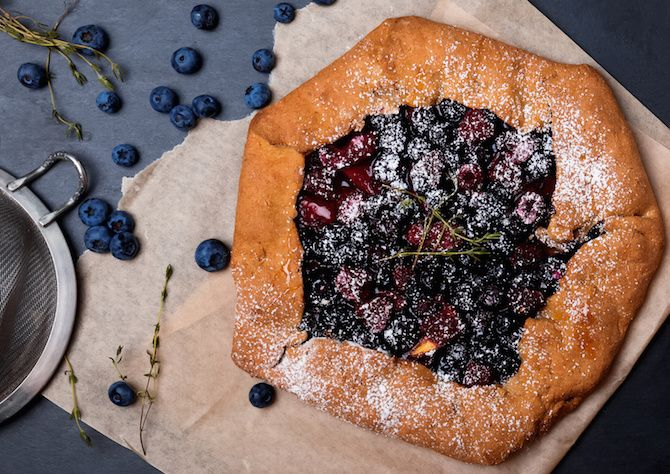 Crostata vegan con farina di lino