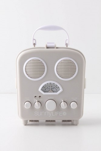 retro radio - SUNNYLIFE, SWANSEA BEACH RADIO: also functions as speakers for
