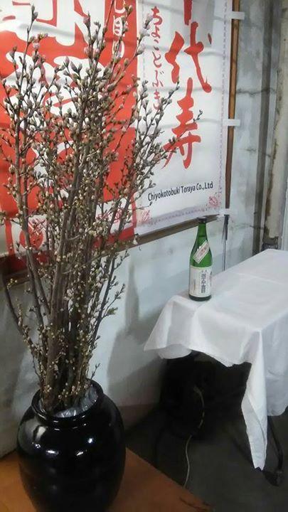 友人にいただいた啓翁桜。 | 山形県内のお酒を広めたい