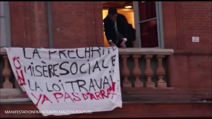 Manifestation loi du travail Toulouse Mc donald place du capitol  France...