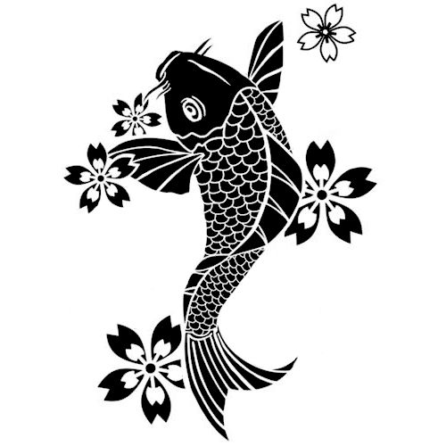 Koi Die Cut Vinyl Decal PV795 for Windows, Vehicle Windows, Vehicle Body Surfaces or just about any surface that is smooth and clean!