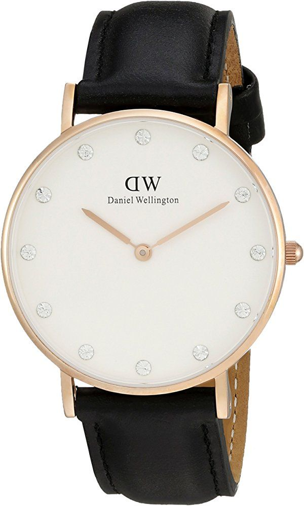 Daniel Wellington Women's 0951DW Classy Sheffield Stainless Steel Watch With Black Leather Band Best Price