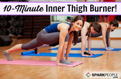 10-Minute Pilates Thigh Workout Video | SparkPeople