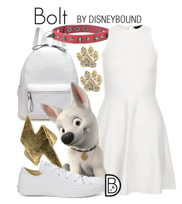"""Bolt"" by leslieakay ❤ liked on Polyvore featuring New Look, Converse, disney and disneybound"