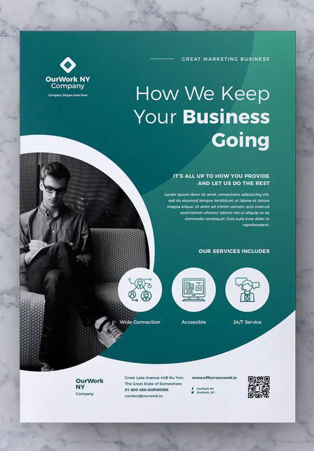 corporate business flyer template psd ai eps cmyk 300 dpi