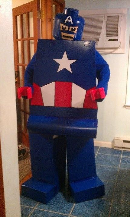 Homemade Costume Captain America LEGO guy | Avengers ...