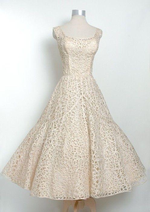 ~Vintage 1950s Ceil Chapman Woven Gown~