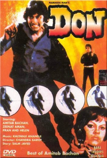 'Don' (1978). Starring Amitabh Bachchan and Zeenat Aman. A '70s classic. SOURCE: Bollywood Passion Blogspot.