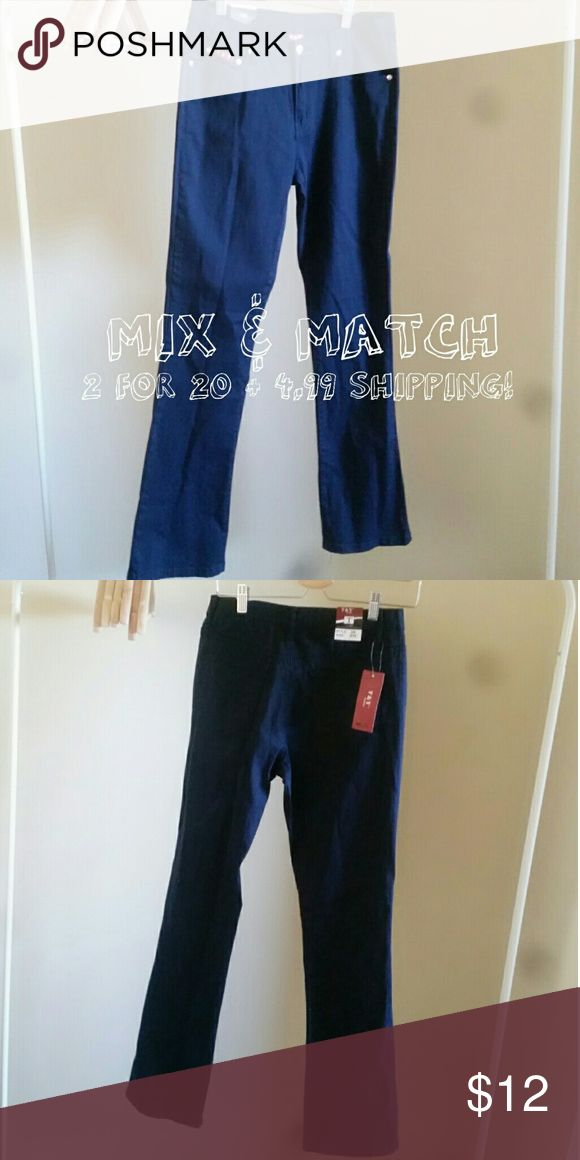 Navy Fashion  Jeans Size 9/10 Navy Blue Fashion Jeans size 9/10 NWT Great for casual or Work Attire, Similar fit & Feel to Dickeys Work Pants T&Y Fashion Pants