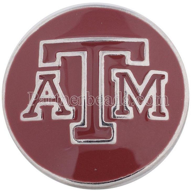Texas Aggie A&M College 20mm Snap Charm For Interchangeable Ginger Snaps Jewelry