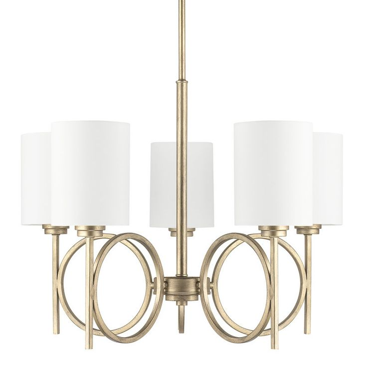 The Halo Collection 5 Light 1 Tier Chandelier Dining Room