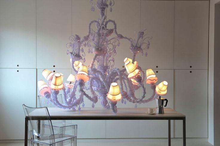 Melt Meee. Hand made murano glass chandelier
