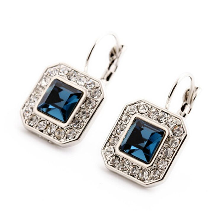 Dangle Earrings  New Blue Geometric Rhinestone Crystal Drop Earrings For Women Trendy Jewelry Elegant Earrings Bijoux Wholesale * This is an AliExpress affiliate pin.  Clicking on the image will lead you to find similar product on AliExpress website
