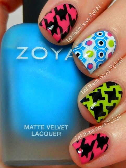 Let them have Polish! Zoya Mod Mattes Stamped nail art