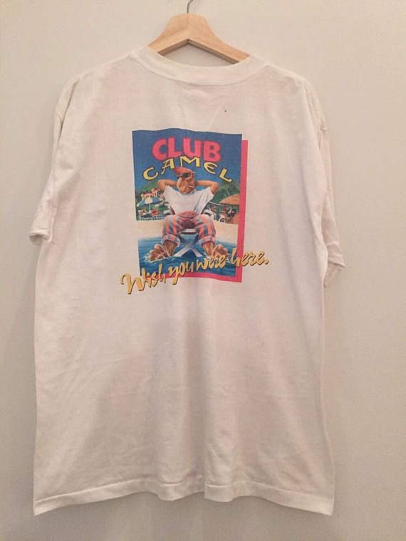 Vintage 90s Joe Camel Cigarettes Camel Club Member T Shirt XL  8f2a94a52