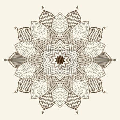 Fototapeta mandala. piękne ręcznie rysowane kwiatu. - mandala • PIXERS.pl