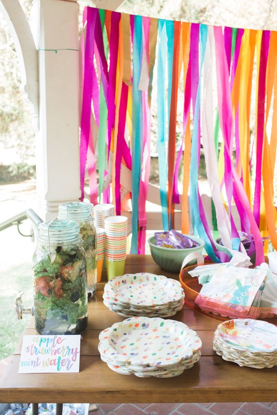 streamer wall | oh joy / floral birthday party