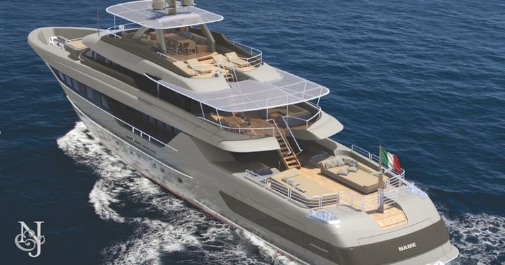 The M45 BLADE is an explorer-style triple deck motor yacht built in light alloy. She was designed to maximize exterior deck spaces. M45 BLADE boasts a sundeck and bridge deck after awnings, as well as a beach club/gymnasium that leads onto a bathing platform