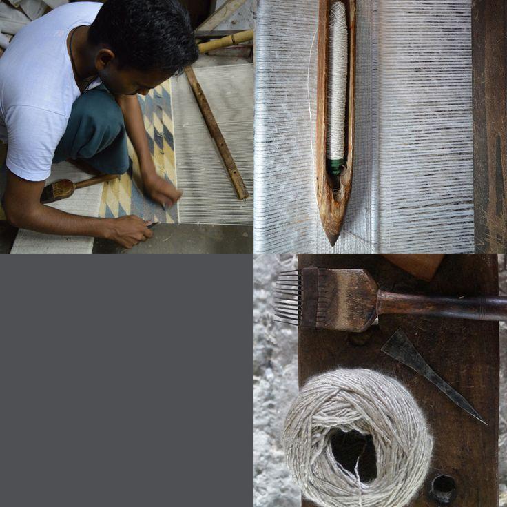 Flat weave rugs.