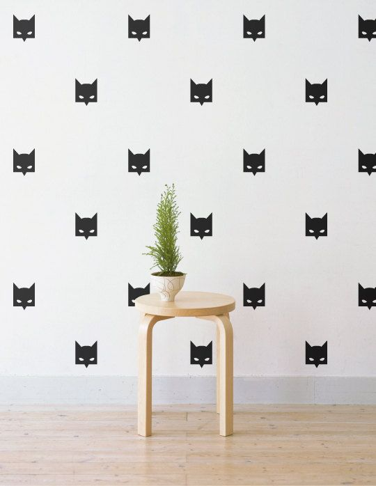Batman Mask Wall Patterns | Removable Wall Decal U0026 Sticker For Home,  Office, Nursery