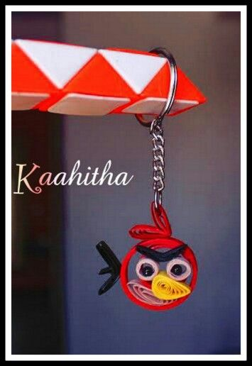 Quilled angry bird keychain :-)