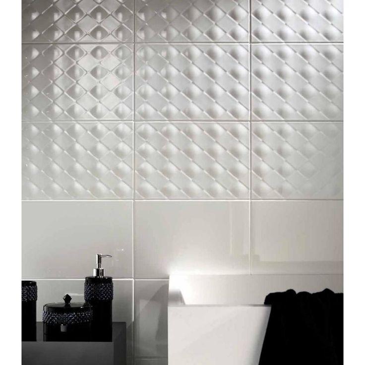 Novabell York Modern Fekete Feher Black And White Furdo Burkolat Design  Fiatalos (1000