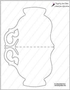 Teacup Tea Cup Shaped Card Template on Craftsuprint - View Now!: