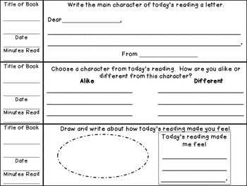 EDITABLE PRIMARY WEEKLY READING RECORDS WITH DAILY COMPREHENSION RESPONSES CCSS