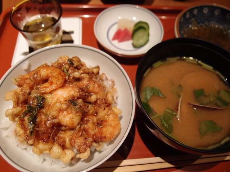 A bowl of rice topped with tempura @Tenshichi, 2014/4