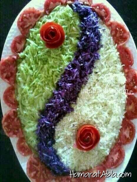 Pretty presentation of a lovely salad ~