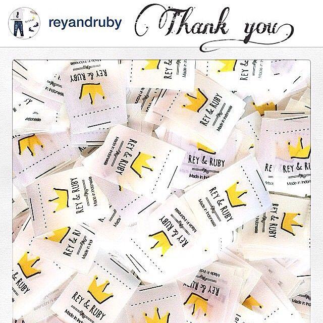 Satin printed label  #satinprint #labelcloting #labeltas #labelbaju #labelkaos #labelcloth #labelhijab #labeldistro #labelcloting #labelkerudung #labelprinting #labelprinted #printinglabel  Terima kasih @reyandruby More success!