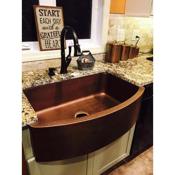 Sinkology Pfister All In One Ernst Copper Farmhouse Kitchen Sink