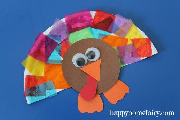 turkey craft ~easy paper plate turkey